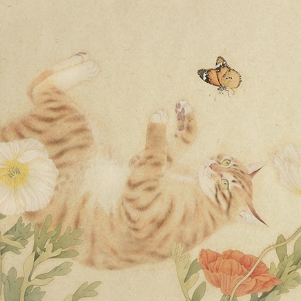 Zhou Quan - Cat and Butterfly