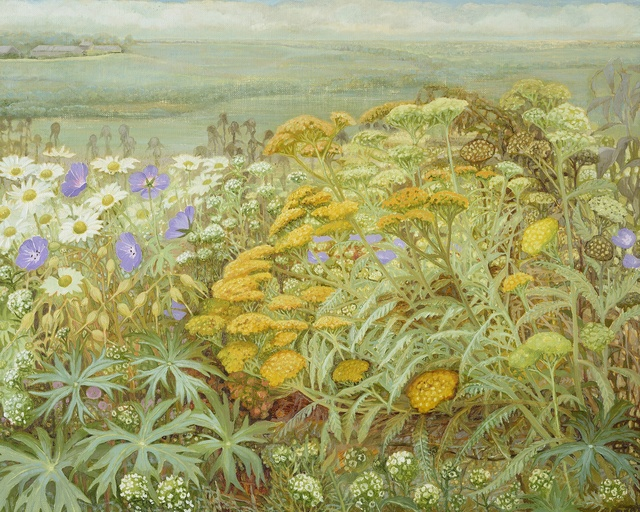 Jane Wormell, 'Summer Garden I', oil on linen, 41 x 51cm